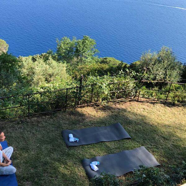 lezioni di yoga e pilates e streatching a Portofino